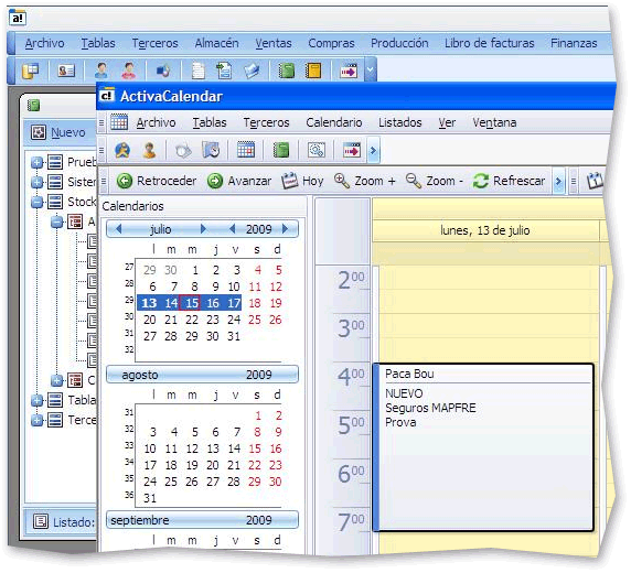 Calendar Control in the WinForms Application