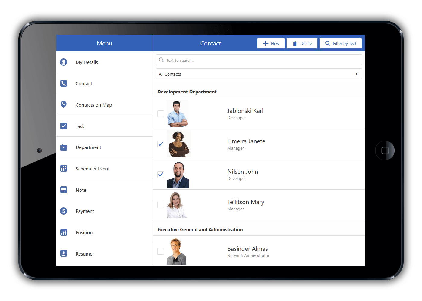 Mobile App: List View