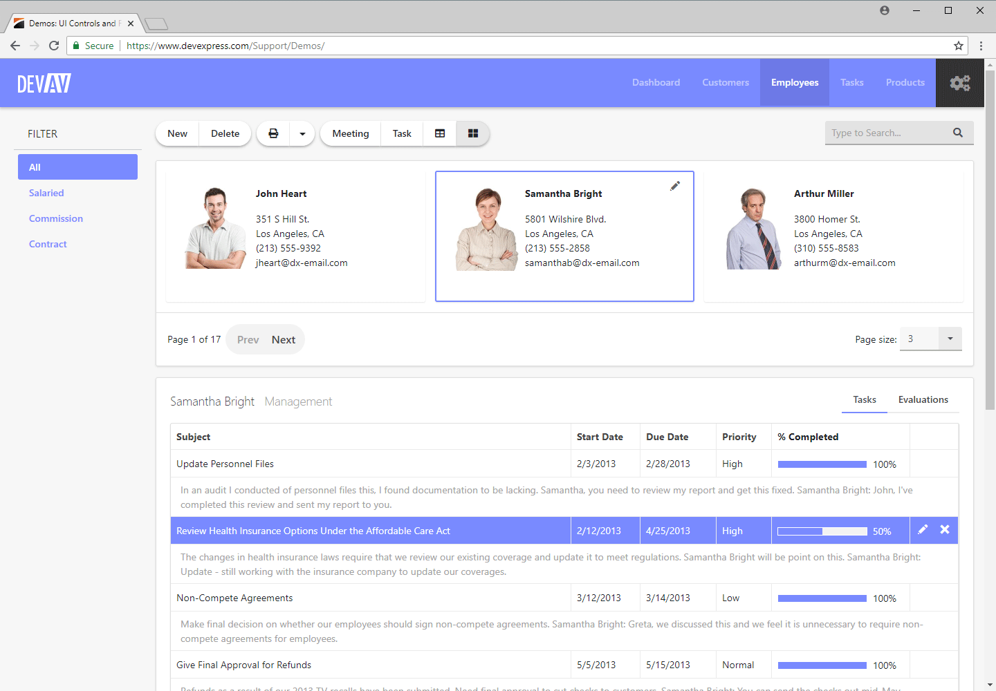 ASP.NET Bootstrap Web Forms App - CardView and GridView Controls
