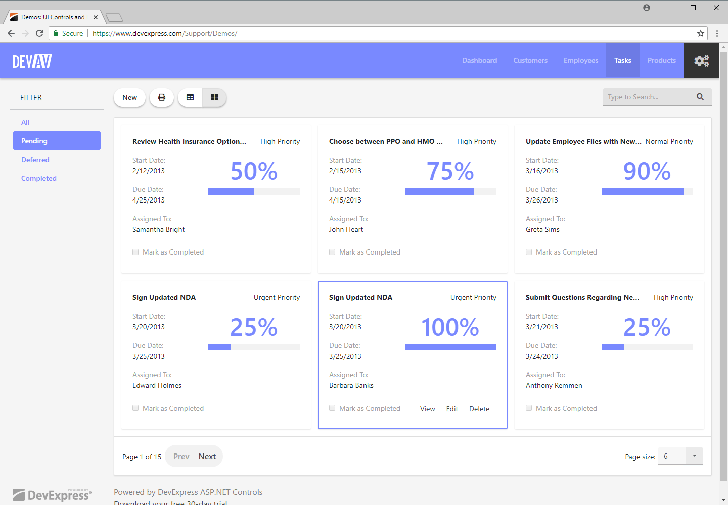 ASP.NET Bootstrap Web Forms App - CardView Control