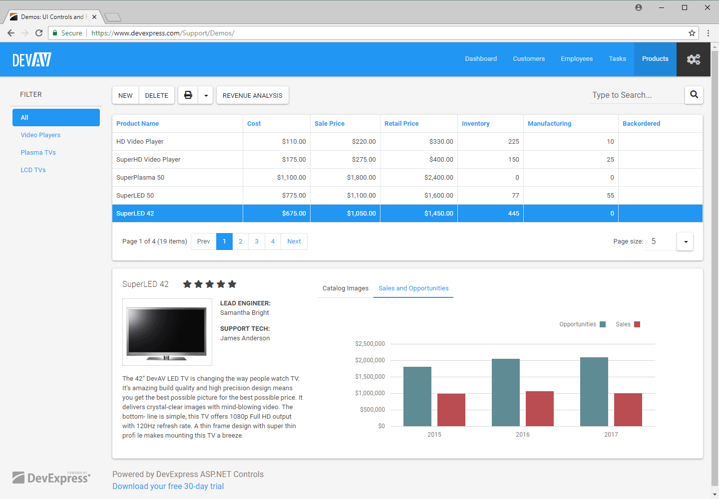 ASP.NET Bootstrap Web Forms App - Product Detail View