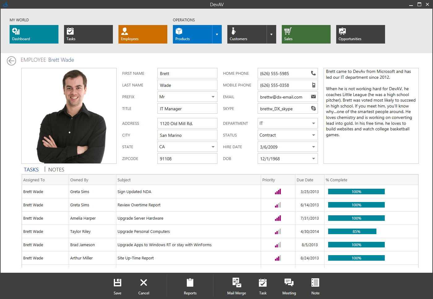 WPF Touch-Enabled Hybrid App with Data Editors