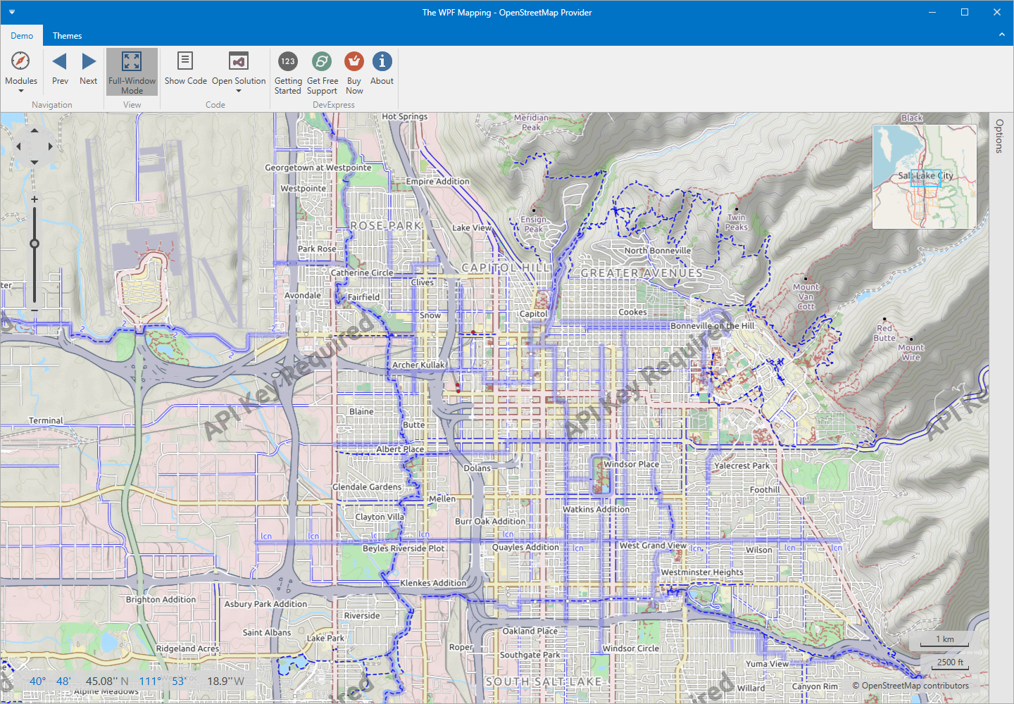 WPF Mapping - OpenStreetMap Provider