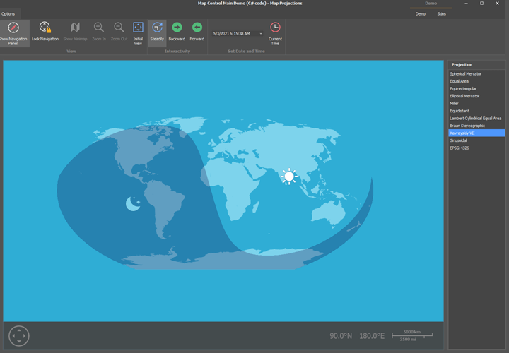 Map Projections - WinForms Map Control | DevExpress