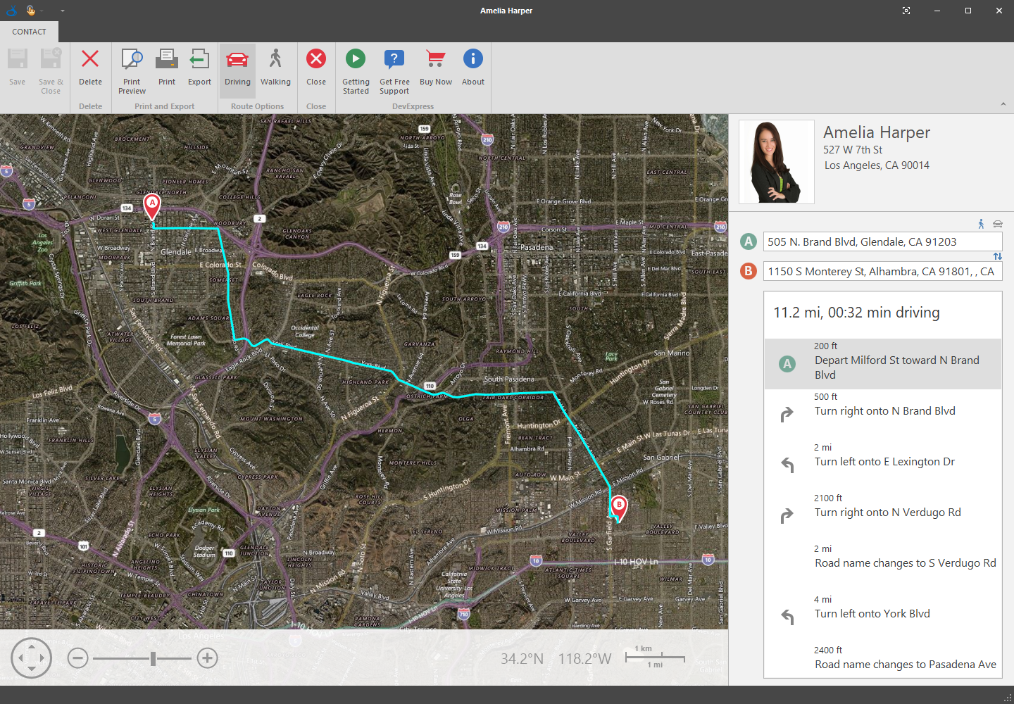 Office Inspired Application with Bing Maps