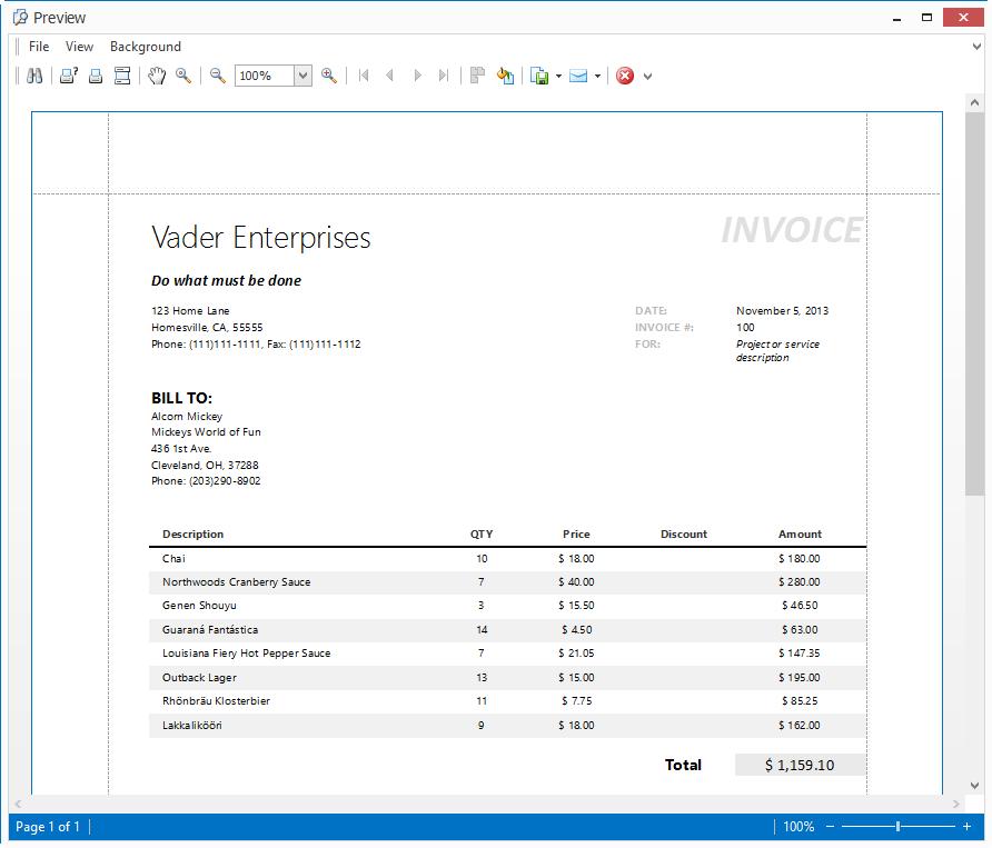 Print Visual Studio Vista
