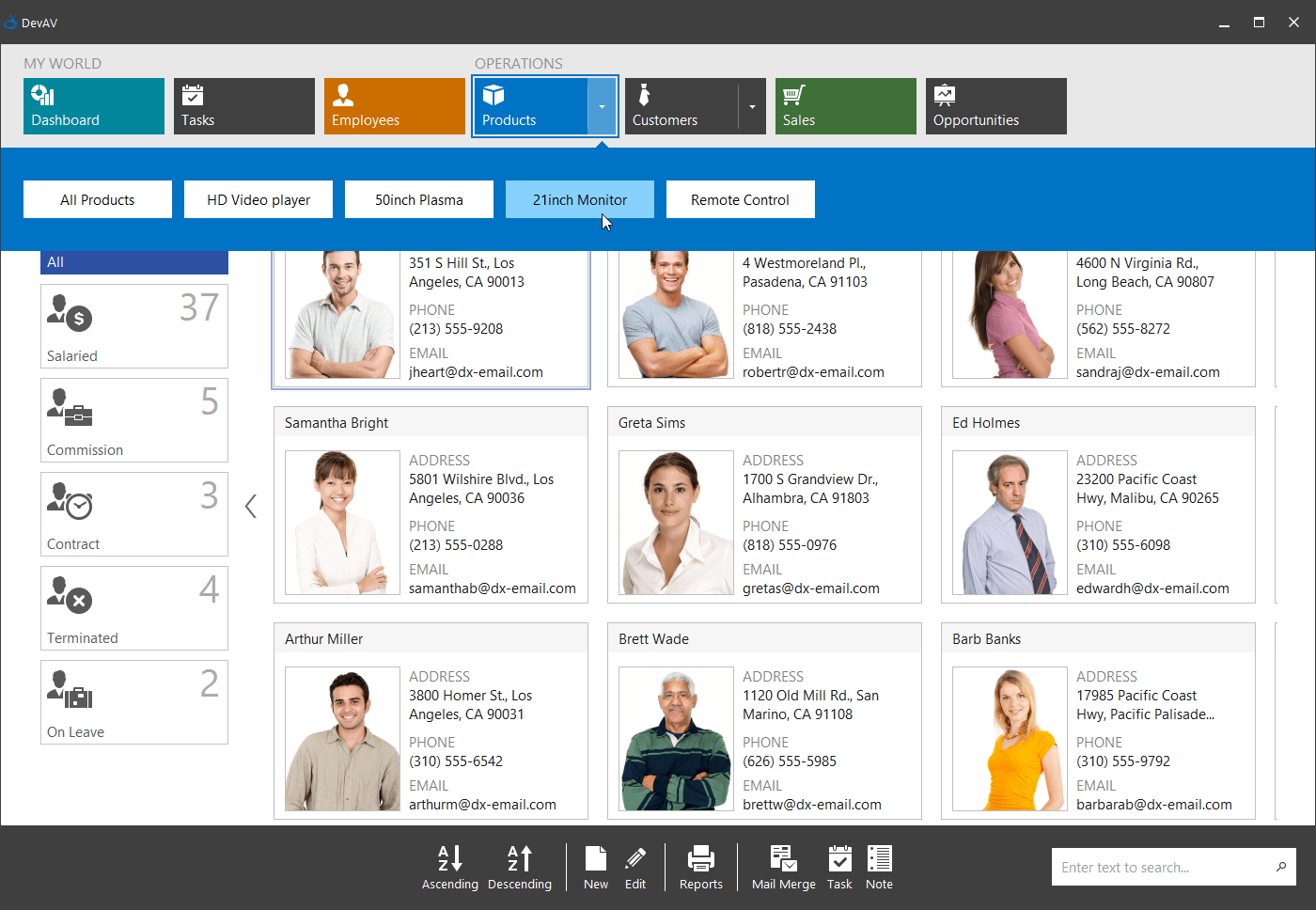 WinForms Tile Bar Control