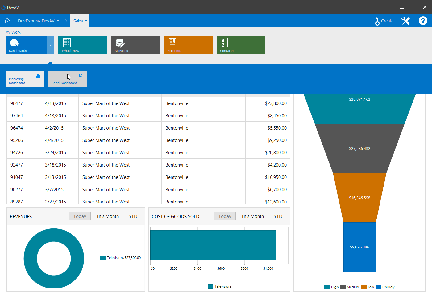 WinForms Tile Navigation Pane