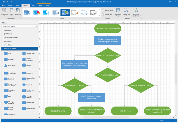Visio-Inspired Diagram Control