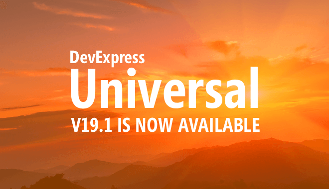 DevExpress v19.1 is Now Shipping