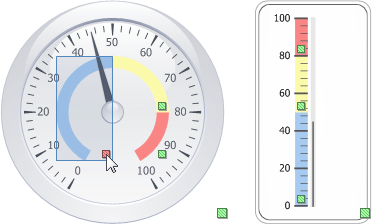 DevExpress VCL Gauge Control - Design-Time Range Selectors