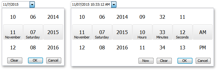 Date Editor - Touch-Friendly Drop-Down Calendar