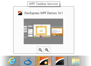 DevExpress WPF Taskbar Service