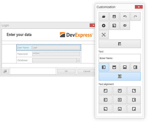 DevExpress WinForms Layout Control - Touch Optimized Customization