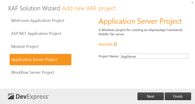 DevExpress XAF - Solution Wizard