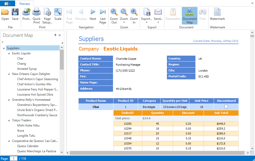 DevExpress WPF Document Viewer