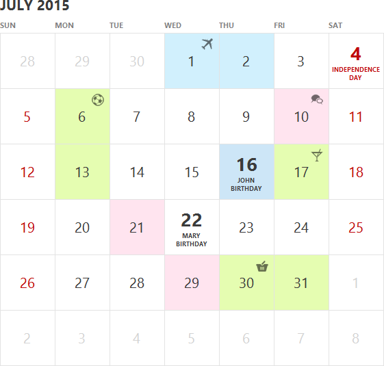 WinForms Calendar Control | DevExpress