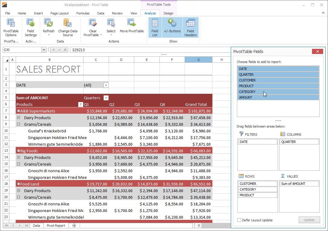 WinForms Spreadsheet Control | DevExpress