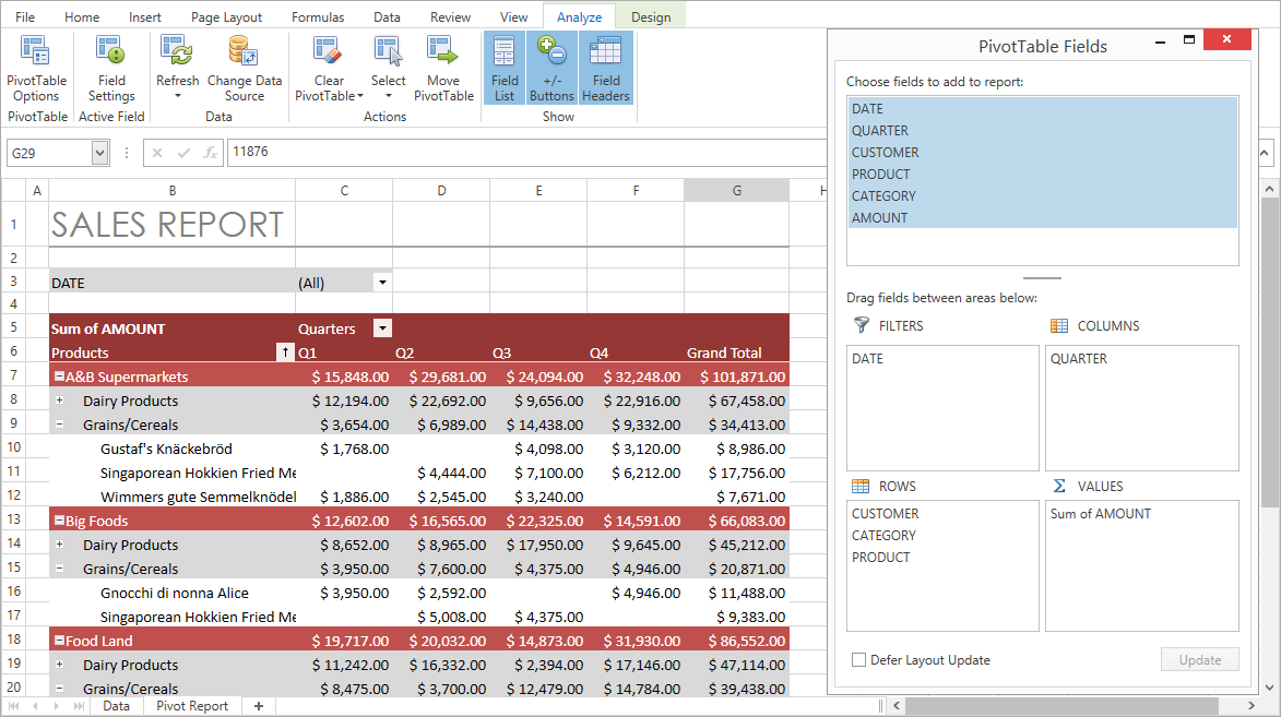 WPF Spreadsheet Control | DevExpress