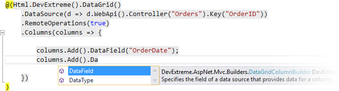 ASP.NET MVC Wrappers, DevExtreme | DevExpress