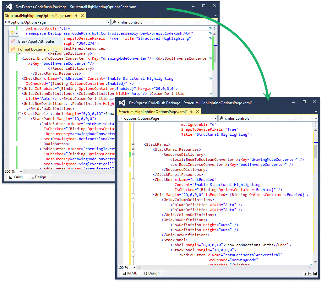 what s new in v16 2 devexpress additionally you can reorder elements and attributes according to rules you specify