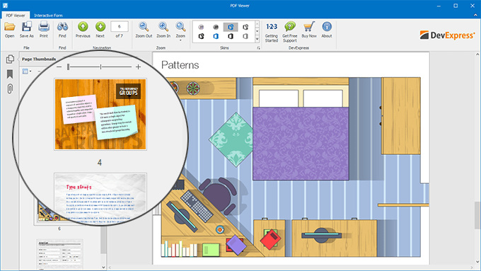 WinForms and WPF PDF Viewer - Thumbnails