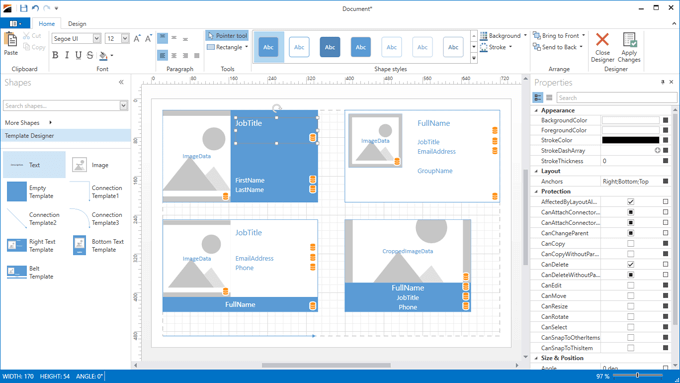 Template Designer - Diagram Control for WPF | DevExpress