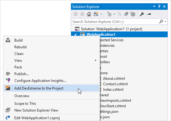 Add DevExtreme MVC Controls to ASP.NET Core Projects | DevExpress