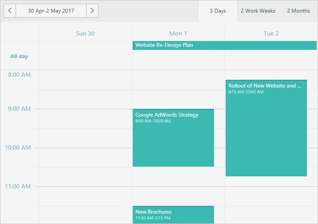 DevExtreme Scheduler - Show Multiple Days | DevExpress