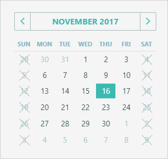 HTML5 DateBox and Calendar - Disable Desired Dates | DevExpress