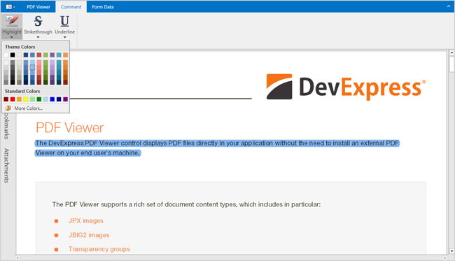 Markup Annotations - PDF Viewer for WPF | DevExpress