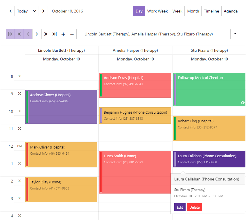 ASP.NET Core Bootstrap Scheduler Control | DevExpress