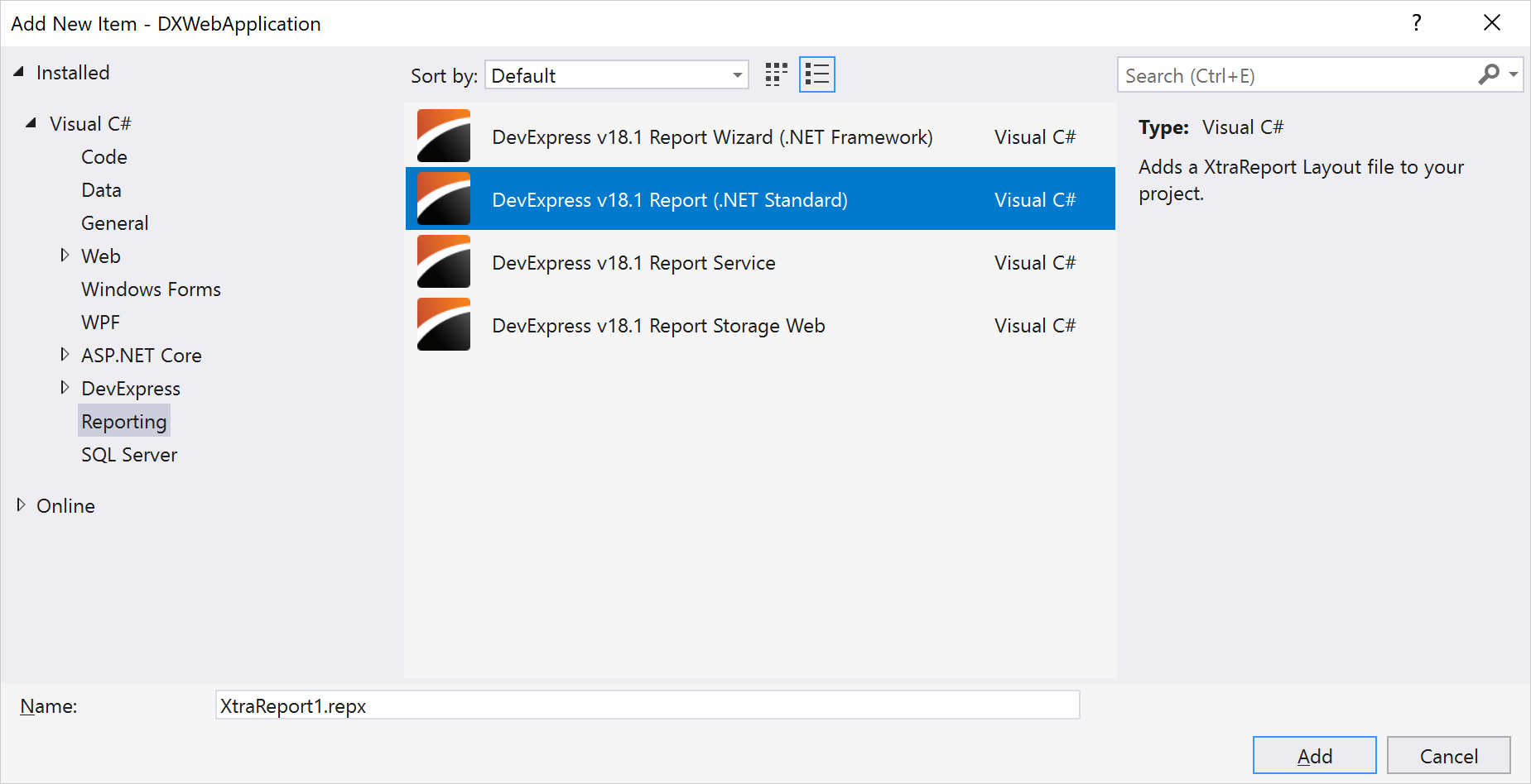 .NET Reporting - Project Template | DevExpress