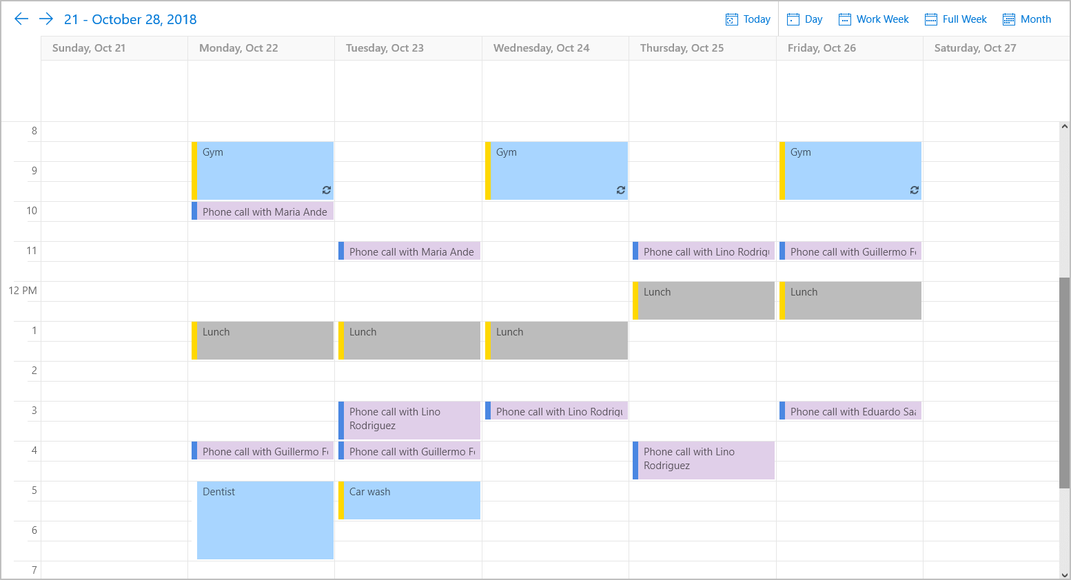 UWP Scheduler Control, DevExpress