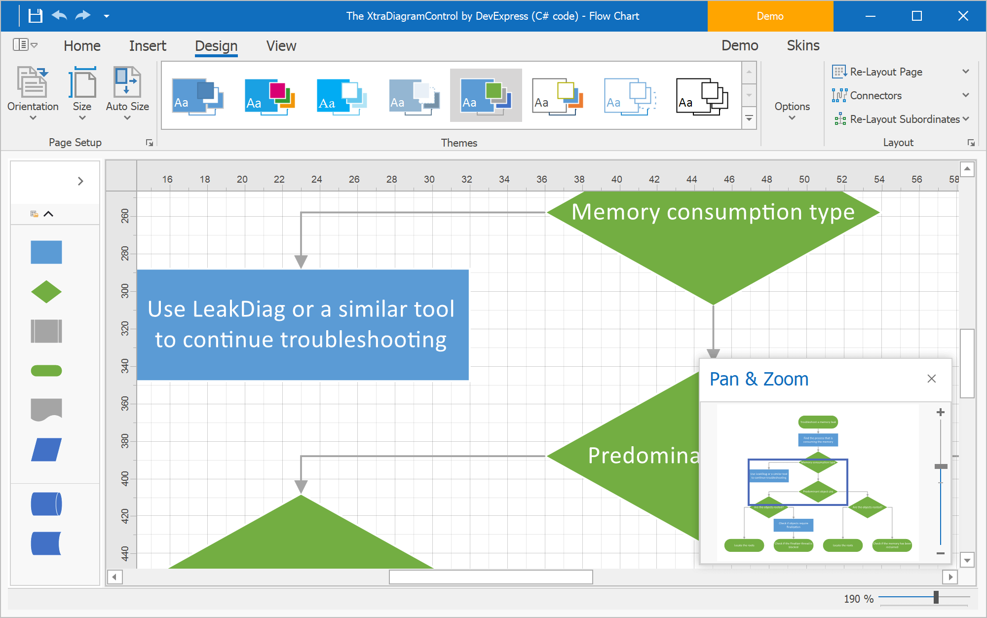 Pan and Zoom Window - Diagram Control for WinForms and WPF, DevExpress