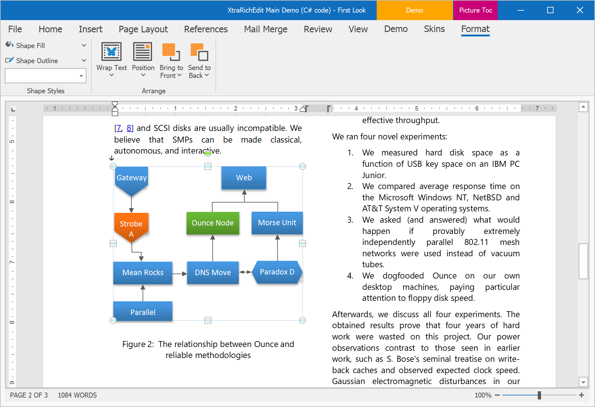 Shapes Support - WinForms Rich Text Editor, DevExpress