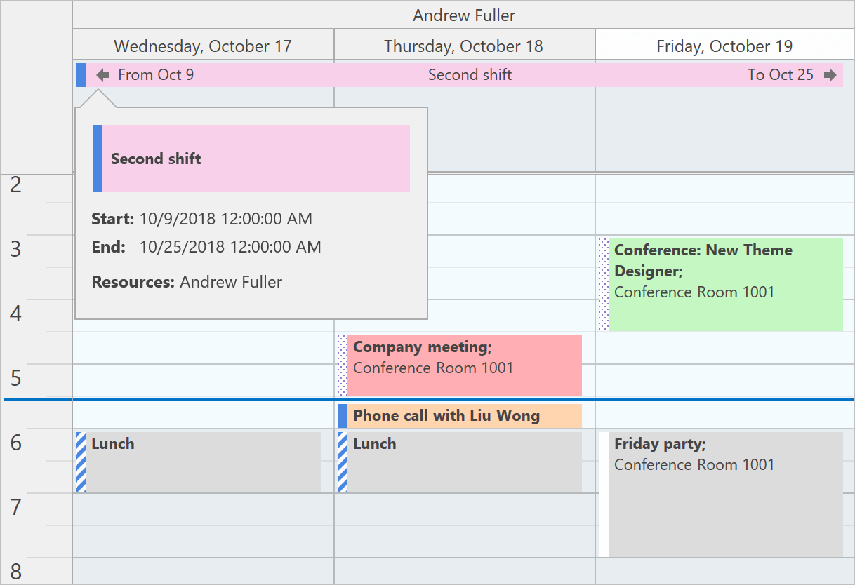 Appointment Arrows - WPF Scheduler | DevExpress