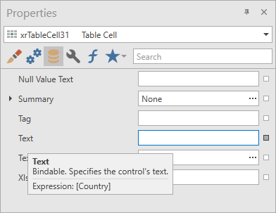 Property Expression Tooltips