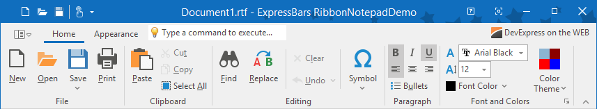 VCL Ribbon and Toolbars - Ribbon Office 2019 Style, DevExpress
