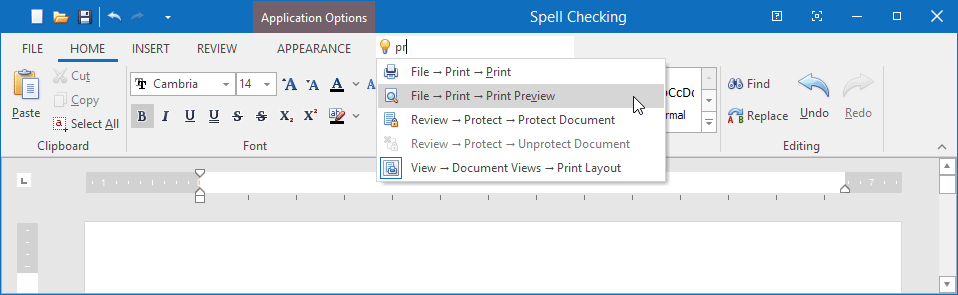 VCL Ribbon and Toolbars - Search Toolbar Navigation Paths, DevExpress