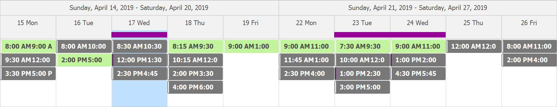 Timeline View - Remove Specific Time Intervals