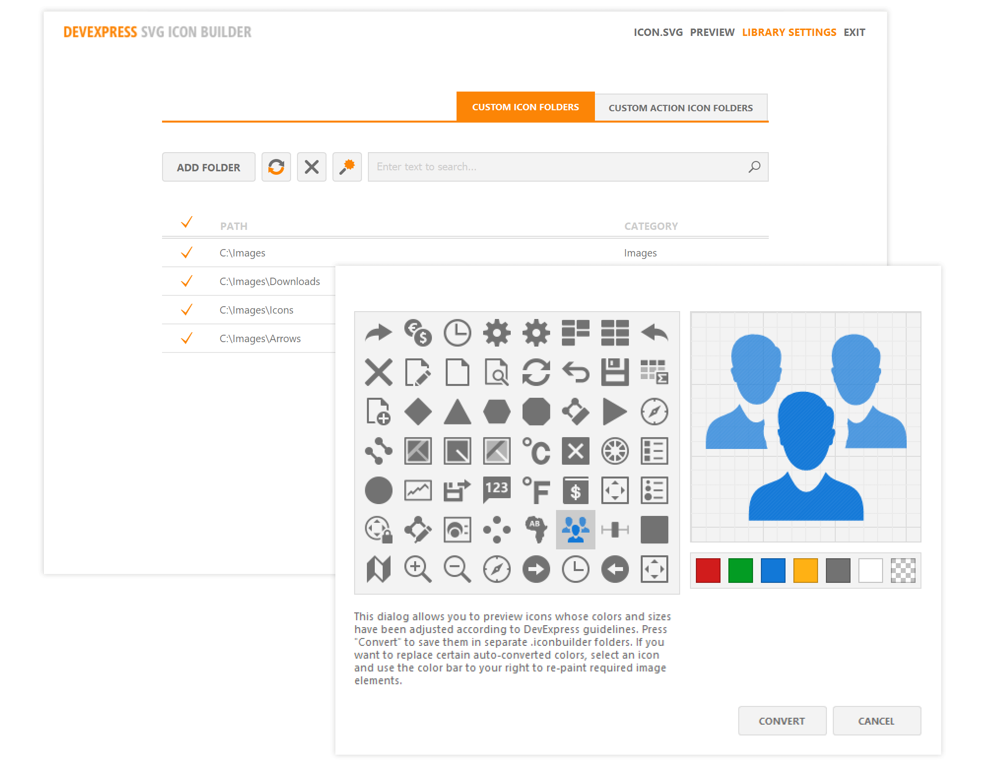 DevExpress SVG Icon Builder - Custom Icon Support