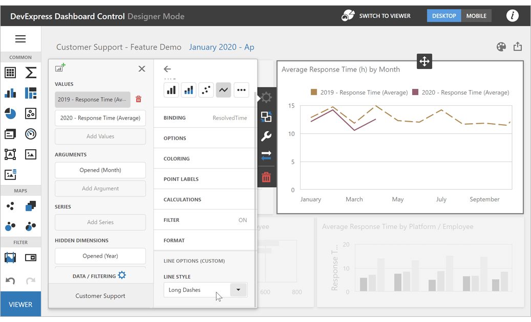 Custom Properties for Dashboard Items - DevExpress Dashboard