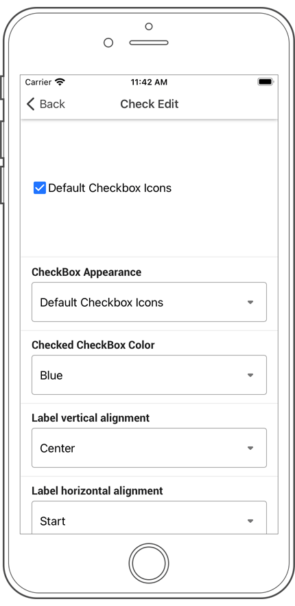 Check Edit - Xamarinf.Forms UI | DevExpress