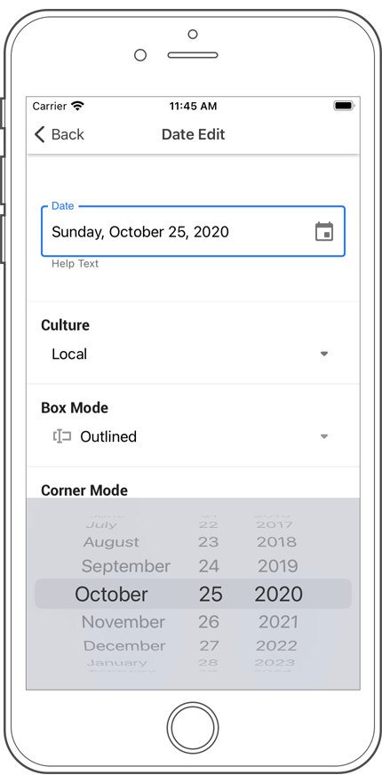 Date Edit - Xamarin.Forms UI | DevExpress