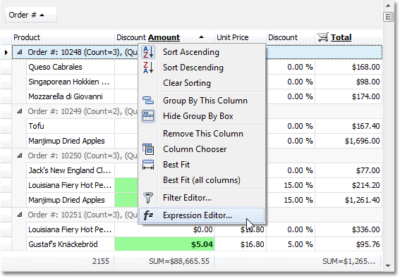 End-User Expresssion Editor for Windows Forms Grid Controls