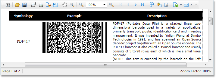 .NET Reporting - 2D Barcodes