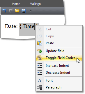 WinForms Rich Editor - Date Fields