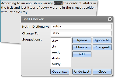 Silverlight Spell Checker Used with DataGrid