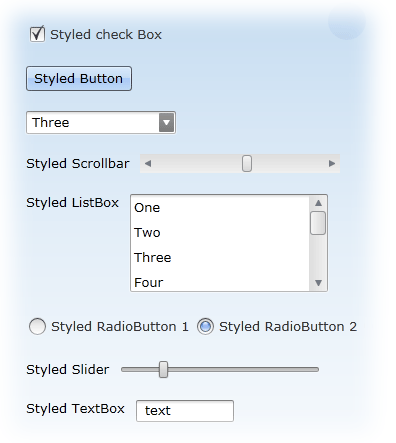 DevExpress Styles Applied to Standard Silverlight Controls